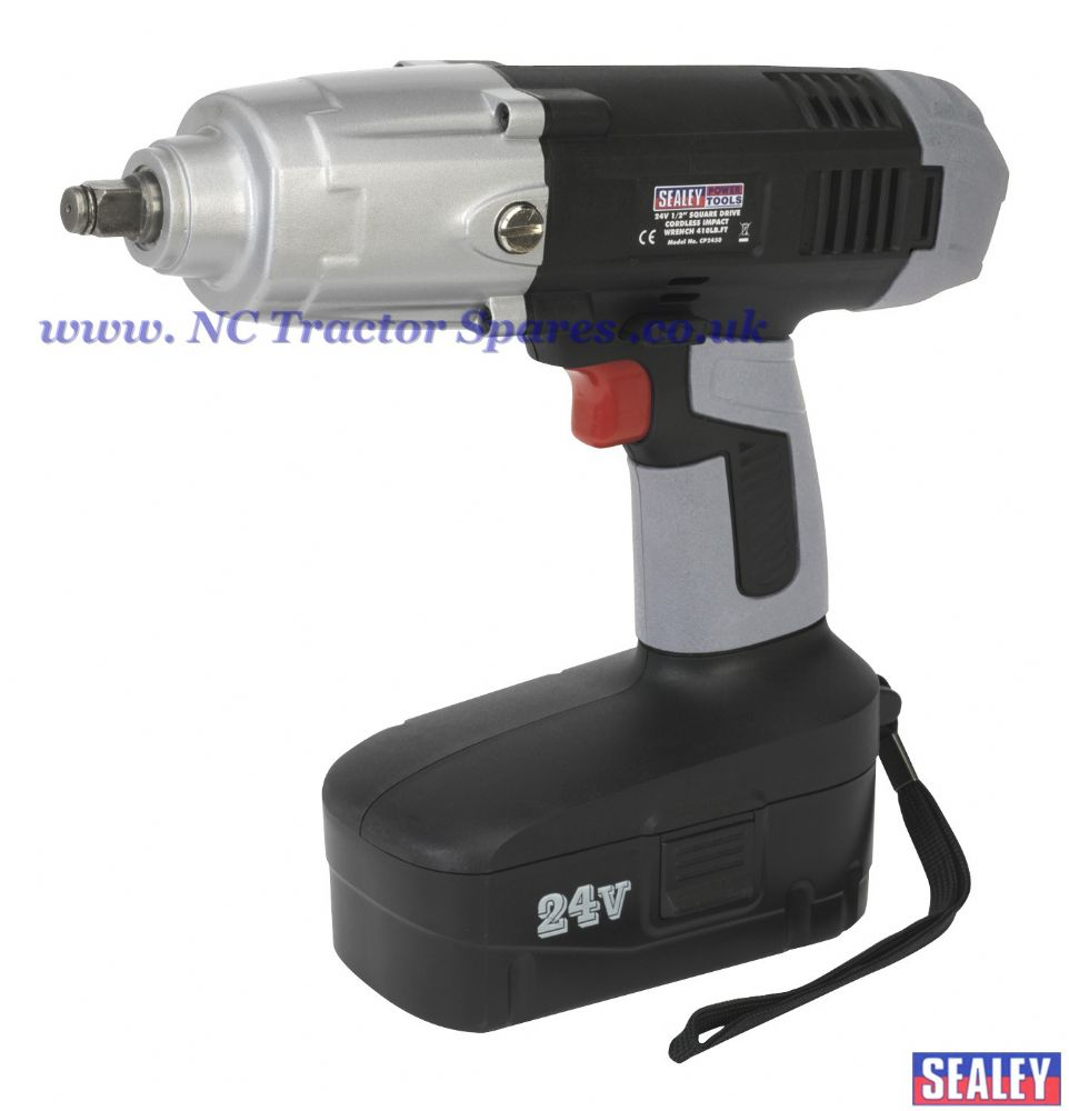 "Cordless Impact Wrench 24V 1/2""Sq Drive 410lb.ft"